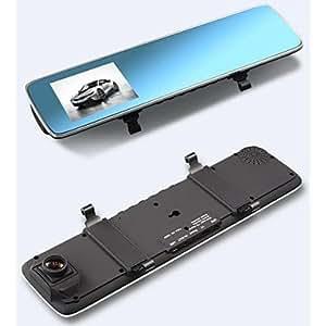 "GDW Novatek 96.650 chip de 170 grados 3.0 ""pulgadas lcd video espejo retrovisor del coche 1080p H.264 pantalla azul full hd dvr , Black"