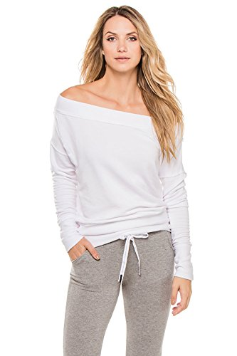 Stateside Women's Wovens Sweater Swim Cover Up White L by Stateside