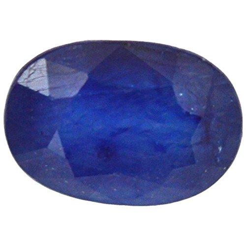 Getgemstones Blue Sapphire Oval Ceylon Mined Pukhraj Loose Gemstone Certified 5.1 Carat ()