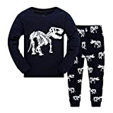 Boys Pajamas Little Kids Sleepwear 100% Cotton Dinosaur Long Sleeve Pjs Set Toddler Clothes Summer Shirts