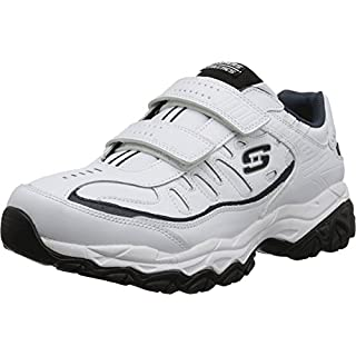 Skechers Afterburn Memory Fit - Final Cut White/Navy 11