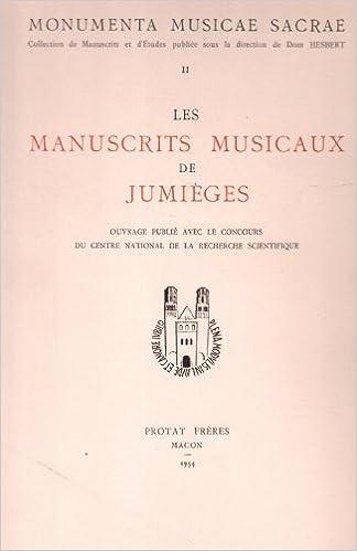 Livres à télécharger sur ipods Manuscrits Musicaux de Jumieges :tome II PDF PDB CHM