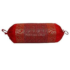 Amazon.com: Stylo Culture Funda de almohada cilíndrica de ...