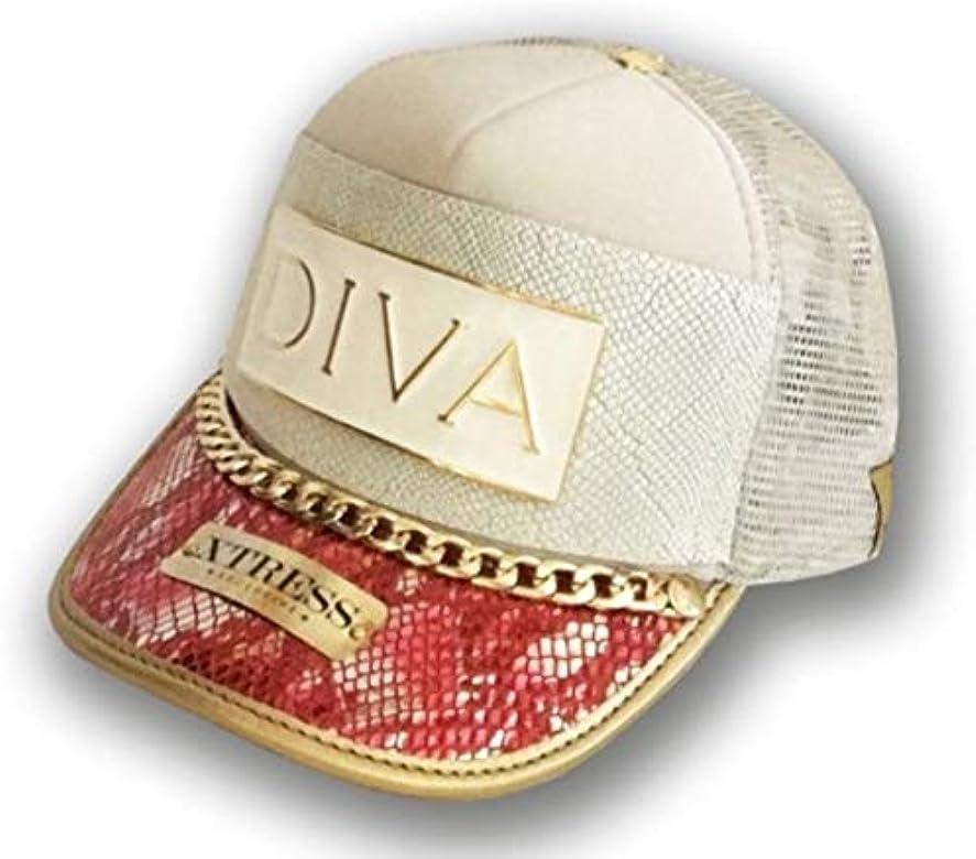 Gorra fashion blanca y rosa con el logo DIVA: Amazon.es: Ropa y ...