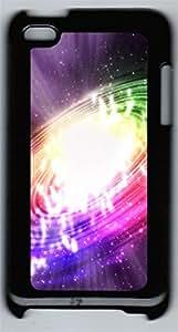 iPod 4Case Colorful Swirl PC Custom iPod 4Case Cover Black