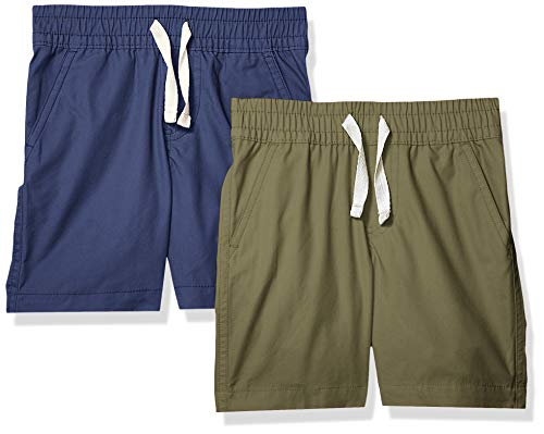 Amazon Brand - Spotted Zebra Boys' Toddler & Kids 2-Pack Pull-on Play Shorts