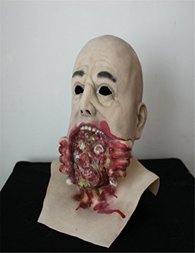The Mask Biz Scary Face Coming Out of the Mouth Head (Dickhead Costumes)