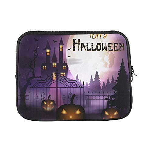 Design Custom Halloween Pumpkins Scary Church On Sleeve Soft Laptop Case Bag Pouch Skin for MacBook Air 11