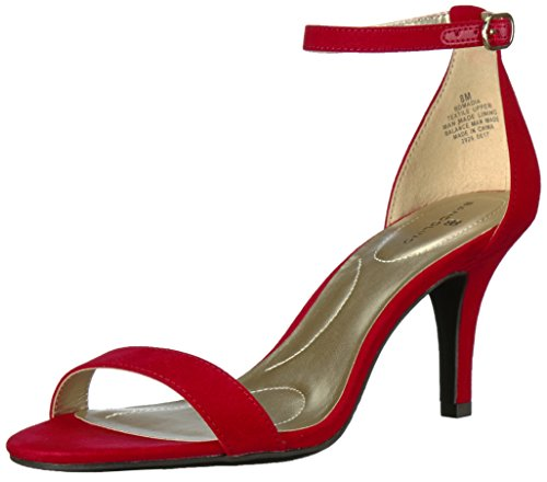 Red Patent Sandals (Bandolino Women's Madia Heeled Sandal, Rossy Red, 10 M US)