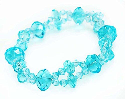 (Fashion Dimensions Capri Blue Double Strand Circle Sand Crystal Bracelet)