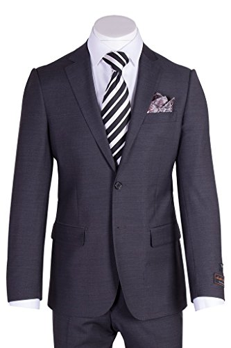 Tiglio Novello Charcoal Gray Modern Fit, Pure Wool Suit TIG1010