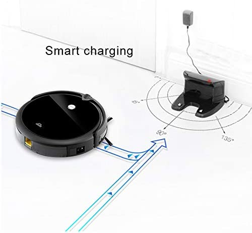 Aspirateur Robot, aspirateur Ultra-Fin de Maison Intelligente, Aspiration puissante, Conception Ultra-silencieuse, aspirateur Robot Auto-Rechargeable, Robot de Balayage Portable