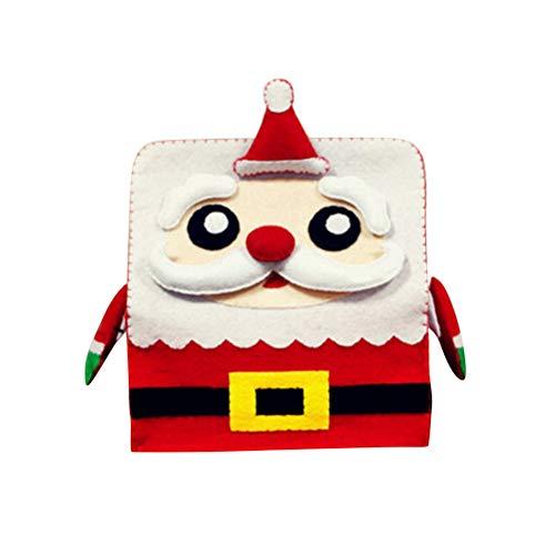 SUPVOX Caja de pañuelos faciales de Navidad Titular de la Cubierta para la Oficina en casa baño encimeras de tocador de...