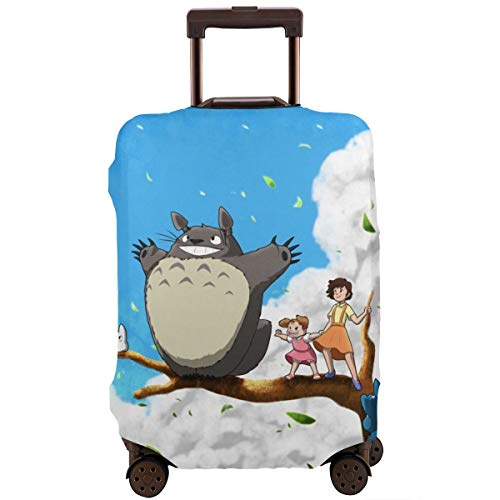 Anime My Neighbor Totoro Travel Luggage Cover Suitcase Protector Washable Baggage Luggage Covers Zipper Fits 26-28 Inch