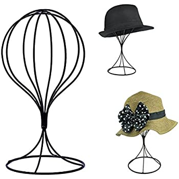 Padshow Freestanding Wire Ball Hat Stand/ Hat Rack / Wig Holder Storage  Display Stand,