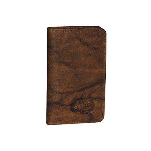 Buxton Heiress Pik-Me-Up Snap Card Case, mahogany