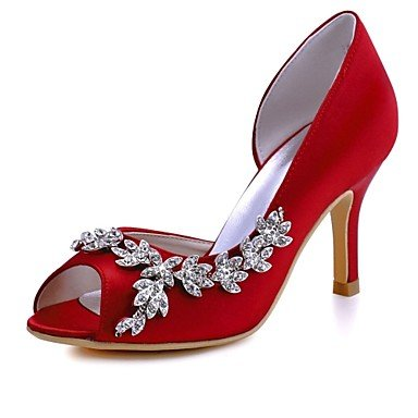 UK6 Noche US8 Primavera Satén Las amp;Amp; RTRY Crystal Verano Rubí Básica Luz Bomba Stretch CN39 Heelivory Stiletto De Wedding Púrpura Rosa Shoes Boda Mujeres'S EU39 pOz01pg