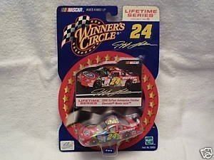 2000 Jeff Gordon #24 Dupont Reverse Rainbow Paint Scheme Charlotte AllStar Race May 2000 1/64 Scale Photo Sticker Edition Lifetime Series Edition Winners Circle