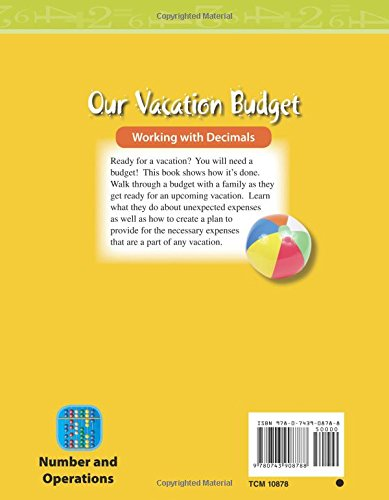 amazon com our vacation budget level 3 mathematics readers