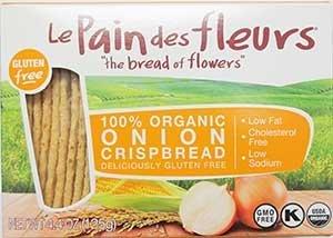 Le Pain Des Fleurs Organic Onion Crispbread 4.4 Oz (12 Pack)