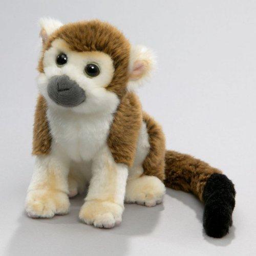 Carl Dick Monkey Squirrel Monkey, 8 inches, 20cm, Plush Toy, Soft Toy, Stuffed Animal (Plush Squirrel Monkey)