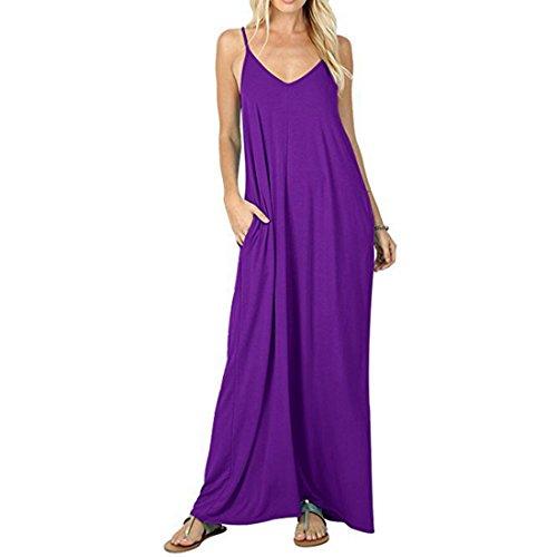 Robe Femme dcontracte  Manches Courtes  Manches Longues S/M / L/XL / XXL Purple