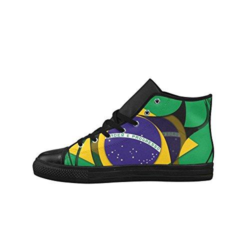 Interestprint La Bandera De Brasil Aquila High Top Action Zapatos De Cuero Para Hombre