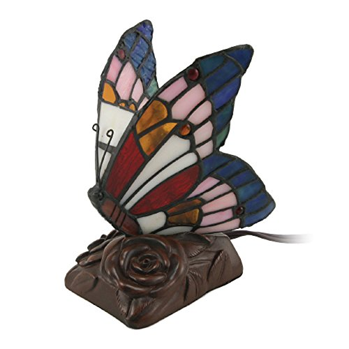 OneWorld Memorials Butterfly Glass Keepsake Urns - Extra Small Holds 1 Cubic Inch of Ashes - Blue Cremation Urn for Ashes