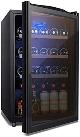 WANGLX ガラスドアと青色光LED、飲料冷蔵庫やクーラーとベッドルーム用小型冷蔵庫 - 116L、40dBの、ドリンク冷蔵庫、ワインのコレクションのための飲料冷蔵庫クーラー