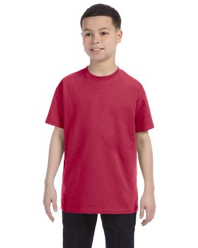 Jerzees Youth 5.6 oz., 50/50 Heavyweight Blend T-Shirt, Medium, VINTAGE HTH RED (Youth Jerzees Heavyweight Blend)