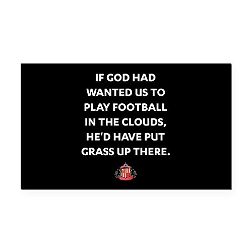 (CafePress - If God Wanted Us to Play Foot - Rectangle Car Magnet, Magnetic Bumper Sticker)