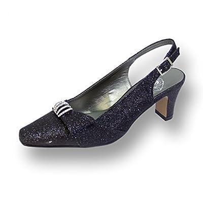 FIC FLORAL Emma Women Wide Width Evening Dress Shoe for Wedding, Prom, & Dinner (Size/Measurement Guides)