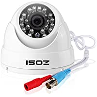ZOSI HD 720p Video Security Dome Camera with 24pcs IR Night Vision LEDs and IP66 Weatherproof Metal Housing (only work with 720P or above resolution HD DVR)