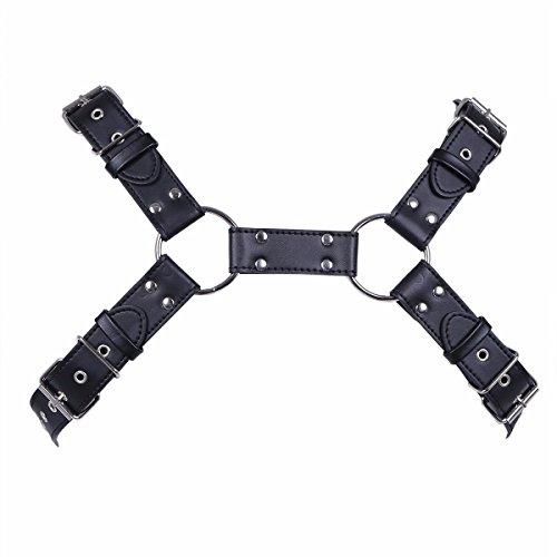 YiZYiF Arnés de Pecho Hombre Cinturones de Cuero Ajustable Traje de Esclavitud con Hebillas para Hombres: Amazon.es: Ropa y accesorios