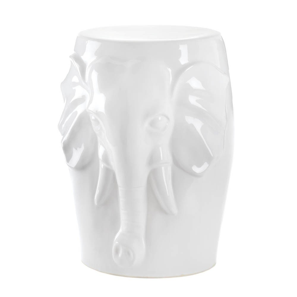 Amazon.com : Ceramic African Elephant Stool : Tables : Patio, Lawn U0026 Garden