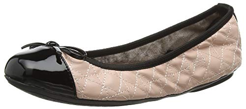 Butterfly Twists Womens Olivia Blush Pink Black Ballet Pumps Shoes Size 6