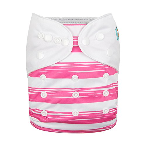 Alva Baby Diapers Reuseable Washable Pocket Cloth Diaper Nappy + 2 Inserts AMD01