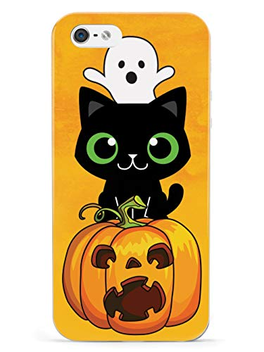 Halloween Iphone 5 Covers (Inspired Cases - 3D Textured iPhone 5/5s/SE Case - Protective Phone Cover - Rubber Bumper Cover - Case for Apple iPhone 5/5s/SE - Cute Halloween Trio - Fall Background)