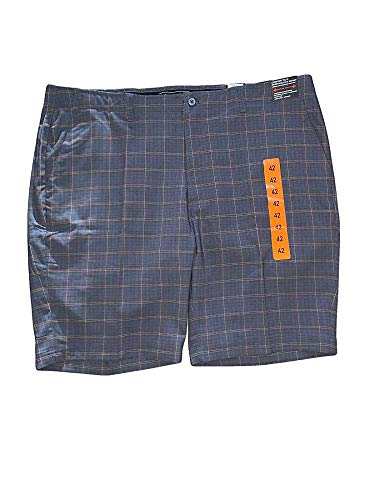Pebble Beach Men's Dry-Luxe Performance Comfort Waist Shorts (Green/Yellow Plaid, 32)