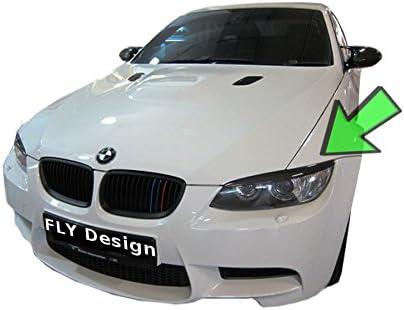 Car Tuning24 55191474 Scheinwerferblenden Set Böser Blick Aus Echtem Carbon Für Wie Performance Und M3 E92 E93 06 10 Auto