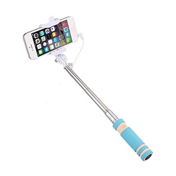 PaxMore Mini Selfie Stick for All Smartphones with Aux Cable 1