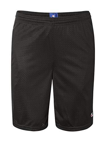 Champion Men's Long Mesh Short With Pockets,Black,LARGE -