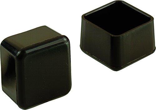 Shepherd Hardware 9234 1-Inch Plastic Square Leg Tips, 4-Pack, Model: 9234
