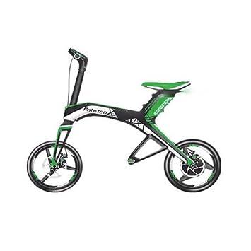 Robstep X1 - Bicicleta moto scooter eléctrica plegable. Calidad PREMIUM (verde)