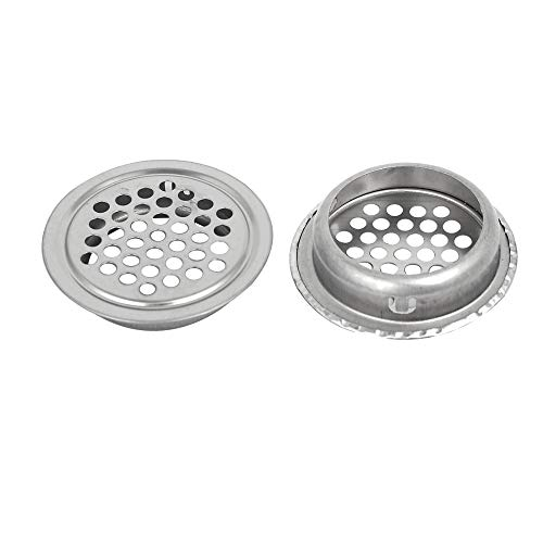 Gimax 35mm Bottom Dia Stainless Steel Round Mesh Hole Air Vents Louver 20pcs