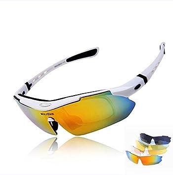 Lixada UV400 Gafas Desmontable de Sol Polarizadas de Seguridad Mirada Sorprendida para Bicicleta Actividades Al Aire