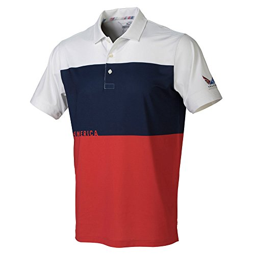 PUMA Golf Men's Volition CK6 America Polo High Risk Red Medium