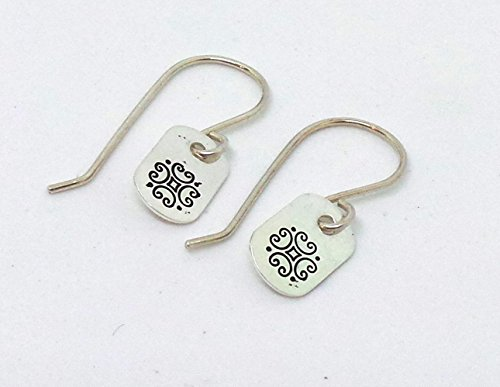 - Sterling Silver Celtic Scroll Drop Earrings