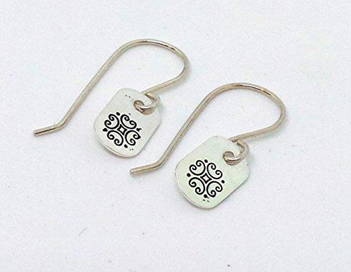Sterling Silver Celtic Scroll Drop Earrings ()