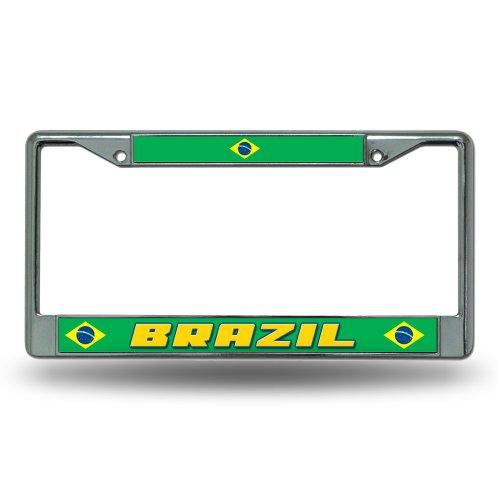 (Rico Brazil National Soccer Team Standard Chrome License Plate Frame)